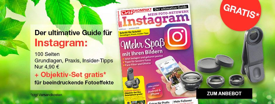 CHIP KOMPAKT Instagram + Gratis Objektiv-Set