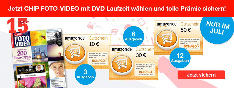 CHIP FOTO-VIDEO Laufzeit wählen + Amazon Gutschein