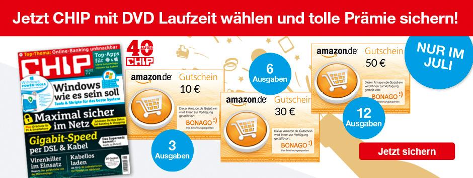 CHIP mit DVD Laufzeit wählen + Amazon Gutschein