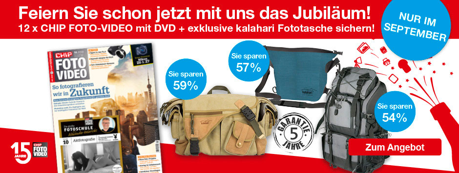 CHIP FOTO-VIDEO Jubiläums-Angebot im September sichern!