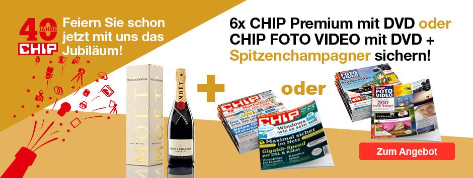 CHIP Zeitschrift wählen + Moet Champagner