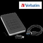 Secure Portable Festplatte 1 TB mit Code-Zugang
