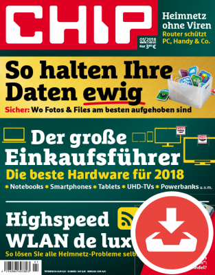 CHIP Magazin 01/18 - Download
