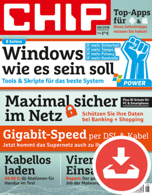 CHIP Magazin 08/18 Download
