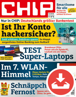 CHIP Magazin 11/18 Download
