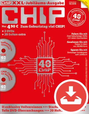 CHIP Jubiläumsausgabe 10/18 Download